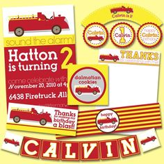 Great fire station party paper ideas!