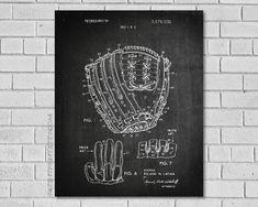 Baseball Glove Patent Print  Baseball Gifts  by PatentPrint