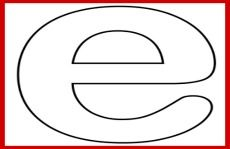"""Free Printable Lower Case Alphabet Letter e Template and Letter """"E"""" Song for Kids!"""