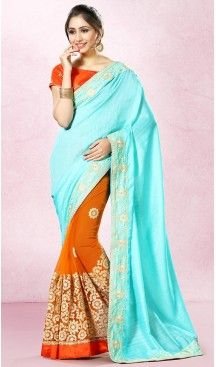 Bhagalpuri Silk Party Wear Saree Blouse in Turquoise Color | FH513978211 #party , #wear, #saree, #saris, #indian, #festive, #fashion, #online, #shopping, #designer, #usa, #henna, #boutique, #heenastyle, #style, #traditional, #wedding, #bridel, #casual, @heenastyle , #blouse, #prestiched, #readymade, #stiched , #lehegasaris, #sari, #saris , #casual , #deaily , #office, #home , #heenastyle