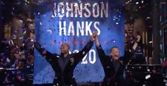 The Rock announces 2020 political bid on SNL with Tom Hanks as running mate … truth in fiction?