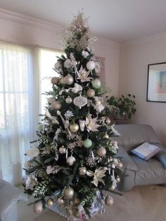 Christmas Tree in Cool Tones