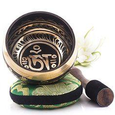 Tibetische Klangschale - Om Mani Padme Hum Design - Volls...