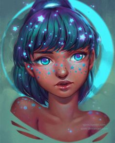 """Freckled Stars"" by @Qinniart on #DeviantArt by deviantart"