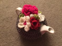 Flowered tea cosy for a small  1 or 2 cups door SpecialHandmade482