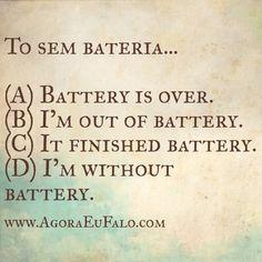 Estou sem bateria...