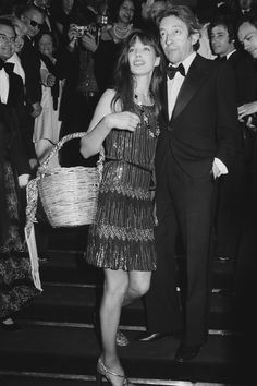 The Cutest Cannes Couples Ever | The Zoe Report - Jane Birkin & Serge Gainsbourg in 1974