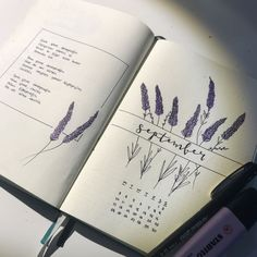 Most current Cost-Free Lavender ideas Style Whether movie community or perhaps the land, lavender is necessary for having everyday splendor to t Bullet Journal Inspo, Bullet Journal Monthly Log, Bullet Journal Notes, Bullet Journal Aesthetic, Bullet Journal Spread, Bullet Journal Layout, Bullet Journal Collections, Bellet Journal, Buch Design