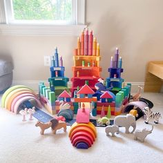 Grimm's Toys, Grimms Rainbow, Small World Play, Happy Mail, New Friends, Playroom, Ali Baba, Kids Rugs, Play Therapy