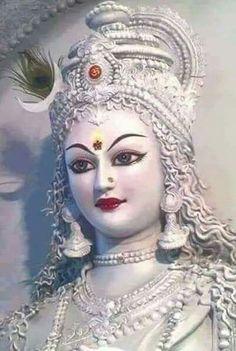 Navratri Puja will help you overcome all your negativities. Flourish with wealth on this Navratri by offering Homam to Lakshmi, Saraswathi & Durga. Durga Ji, Saraswati Goddess, Goddess Art, Goddess Lakshmi, Shiva Shakti, Durga Images, Lord Krishna Images, Krishna Pictures, Kali Hindu