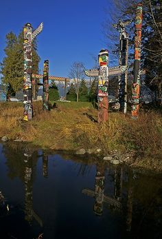 The totems in Stanley Park - Vancouver