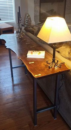 Beautiful Live Edge Walnut Slab Sofa Table Live edge table Sofa table Walnut tab… – Wood Works – Just another WordPress site Table Sofa, Slab Table, Walnut Table, Wood Table, Walnut Slab, Table Legs, Live Edge Wood, Live Edge Table, Live Edge Console Table