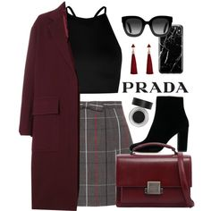 A fashion look from January 2018 featuring Boohoo tops, Joseph coats and Miu Miu mini skirts. Browse and shop related looks. Look Fashion, Korean Fashion, Autumn Fashion, Fashion Outfits, Womens Fashion, Classy Outfits, Stylish Outfits, Fall Outfits, Stage Outfits