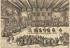 The Wdding book of Johann Wilhelm of Jülich, Cleve, and Berg in Dusseldorf, Wedding Banquet, 1587, print   In 16-17th century, people started to print book depicting grand wedding and festivals. This is  the wedding of German Prince Johann Wilhelm of Julich