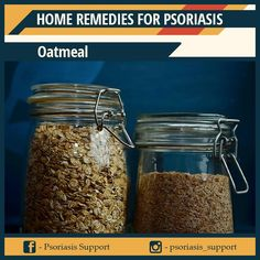 The ability to nourish the skin by moisturizing the skin and reducing inflammation makes oatmeal one of the best ingredients used to make home remedies for psoriasis. By applying this method, you will promptly feel relieved as it helps soften the skin and ease the pain. Home Remedies For Psoriasis, How To Apply, How To Make, Mason Jars, Oatmeal, Moisturizer, Food, Moisturiser, Essen