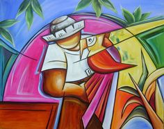 pintura camponesa cubista