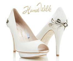 'Bridgette' Bespoke Harriet Wilde wedding shoes. Price on request, visit www.harrietwilde.com