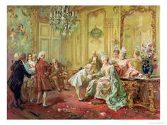 Presentation of Young Mozart to Mme de Pompadour at Versailles