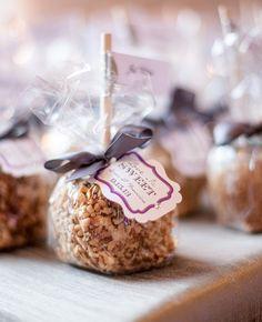 Caramel Apple Favors by Maya Myers Photography | blog.theknot.com