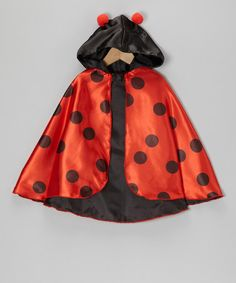 Take a look at this Red Ladybug Cape by Story Book Wishes on #zulily today! $15 !!