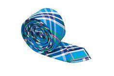 Notch Men's Cotton Slim Necktie ONNI Plaid in turquoise blue, white, navy, green, red  http://www.yourneckties.com/notch-mens-cotton-slim-necktie-onni-plaid-in-turquoise-blue-white-navy-green-red/
