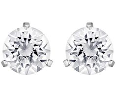 Each stud of the Solitaire pierced earrings comprises one crystal solitaire in…