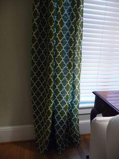 table cloth curtains, AWESOME idea. Already hemmed on all sides.