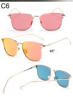 6616f6642fd Aliexpress.com   Buy Cat Eye Plane Mirror Sunglasses Women Men Brand  Designer Full Alloy