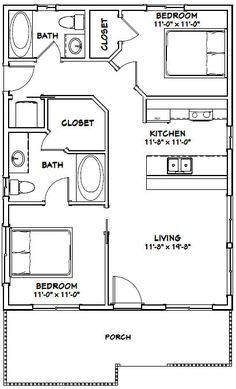 Image Result For 700 Sq Ft Apartment Floor Plan 1 Bedroom Tiny House Floor Plans Small House Plans House Plans