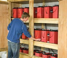 24 Surrette backup batteries (surrette.com) can run for 3 full days w/o a recharge