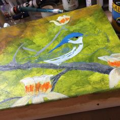 The #cerulean warbler is coming along #nature #wildlife #painting #birds #art