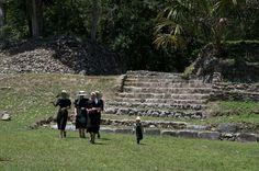 "Lamanai (""Submerged Crocodile"") is a Maya site located in Orange Walk, Belize"