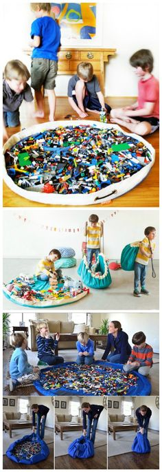 Playroom Organization Ideas Storage Solutions Small Spaces - an in Depth Anaylsis on What Works Toy Storage Bags, Playroom Organization, Lego Storage, Small Storage, Organization Ideas, Organizing, 5 Year Old Boys Bedroom, Storage Solutions, Storage Ideas