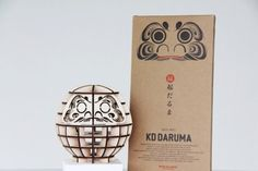 """haha love this, laser cut """"knock down"""" daruma souvenir kit from japan...reminds me of our time there..."""