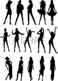 dessin stylisé femme: caractères d'illustration mâle et femelle avec une variété de styles