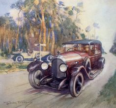 Frederick Gordon Crosby - Poster advertising Bentley cars