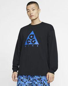 Langærmet Nike ACG-T-shirt. Nike DK Nike Acg, Grey Fashion, Royal Fashion, Mens Fitness, Classic Style, Graphic Sweatshirt, Long Sleeve, Sleeves, Blog