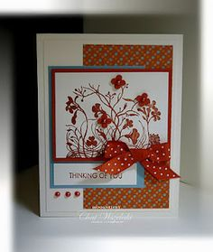 I wanted to make a card using some Fall colors and thought this stamp set would work really we. My Stamp, Stamping Up, Homemade Cards, Your Cards, Thinking Of You, Card Making, Greeting Cards, Paper Crafts, Crafty