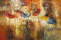 La valse des fleurs par Irene Gendelman, artiste présentement exposé aux Galeries Beauchamp. www.galeriebeauchamp.com