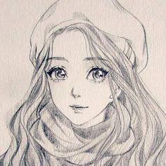 Dashaartppi – Graffiti World Anime Drawings Sketches, Girly Drawings, Cool Art Drawings, Pencil Art Drawings, Anime Sketch, Manga Drawing, Cartoon Drawings, Arte Copic, Art Du Croquis