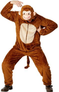 Monkey Animal Comedy Onesie Adult Unisex Smiffys Fancy Dress Costume - Medium in Clothes, Shoes & Accessories, Fancy Dress & Period Costume, Fancy Dress, Unisex Fancy Dress Animal Fancy Dress Costumes, Animal Costumes, Adult Costumes, Costumes For Women, Halloween Costumes, Adult Fancy Dress, World Book Day Characters, Jungle Outfit, Jumpsuit Outfit