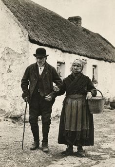 An elderly couple walk to the market in Galway, Ireland, circa Ireland Pictures, Images Of Ireland, Old Pictures, Old Photos, Vintage Photos, Wild Atlantic Way Ireland, Erin Go Bragh, Irish People, Irish Culture