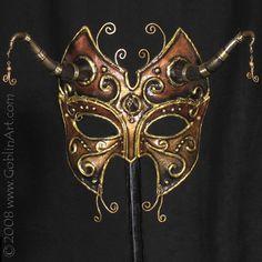 Vacuum formed mask by Monica Roxburgh Goblin Art