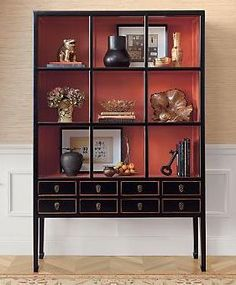 I have recently been inspired by the color palette of coral and persimmon. I have been debating about painting the cabinets in the office kind…