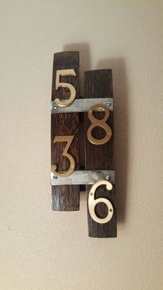 Wine barrel address sign