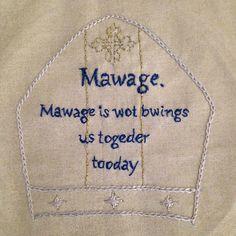 Mawage by Maverick Costumer, free embroidery pattern on fandominstitches.com! #princessbride