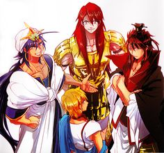 Sinbad, Muu Alexius, Ren Kouen & Ali Baba Saluja - Magi: The Labyrinth of Magic