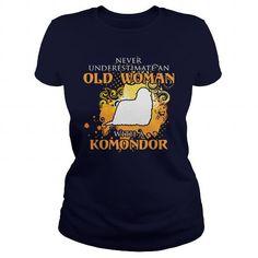 Komondor Dog T Shirts, Hoodies. Get it here ==► https://www.sunfrog.com/LifeStyle/Komondor-Dog-126546126-Navy-Blue-Ladies.html?57074 $23