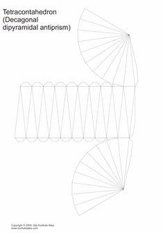 Net decagonal dipyramidal antiprism