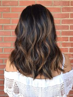 Image result for balayage dark hair